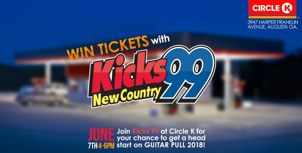 Head to Circle K To Win Tix For Guitar Pull 2018