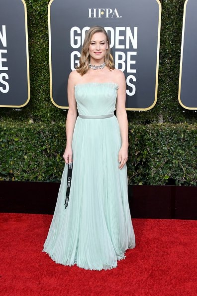 BEVERLY HILLS, CA - JANUARY 06: Yvonne Strahovski attends the 76th Annual Golden Globe Awards at The Beverly Hilton Hotel on January 6, 2019 in Beverly Hills, California.  (Photo by Jon Kopaloff/Getty Images)