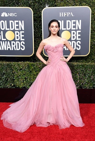 BEVERLY HILLS, CA - JANUARY 06:  Emmy Rossum attends the 76th Annual Golden Globe Awards at The Beverly Hilton Hotel on January 6, 2019 in Beverly Hills, California.  (Photo by Frazer Harrison/Getty Images)