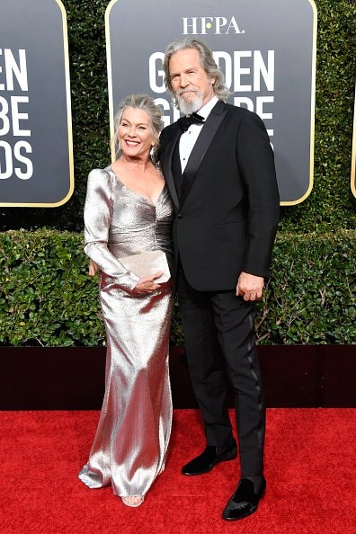 BEVERLY HILLS, CA - JANUARY 06:  Susan Geston (L) and Jeff Bridges attend the 76th Annual Golden Globe Awards at The Beverly Hilton Hotel on January 6, 2019 in Beverly Hills, California.  (Photo by Frazer Harrison/Getty Images)