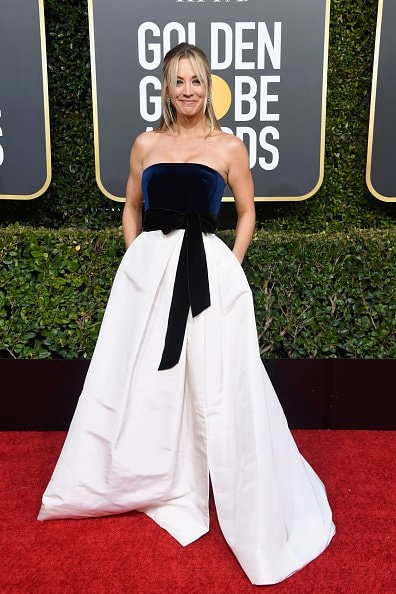 BEVERLY HILLS, CA - JANUARY 06:  Kaley Cuoco attends the 76th Annual Golden Globe Awards at The Beverly Hilton Hotel on January 6, 2019 in Beverly Hills, California.  (Photo by Frazer Harrison/Getty Images)