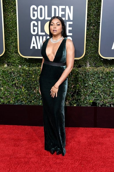 BEVERLY HILLS, CA - JANUARY 06: Taraji P. Henson attends the 76th Annual Golden Globe Awards at The Beverly Hilton Hotel on January 6, 2019 in Beverly Hills, California.  (Photo by Jon Kopaloff/Getty Images)