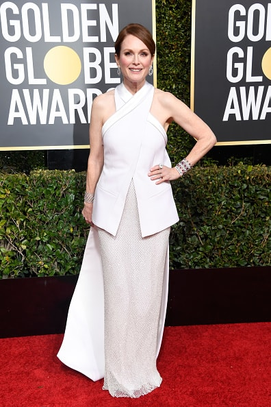 BEVERLY HILLS, CA - JANUARY 06:  Julianne Moore attends the 76th Annual Golden Globe Awards at The Beverly Hilton Hotel on January 6, 2019 in Beverly Hills, California.  (Photo by Frazer Harrison/Getty Images)
