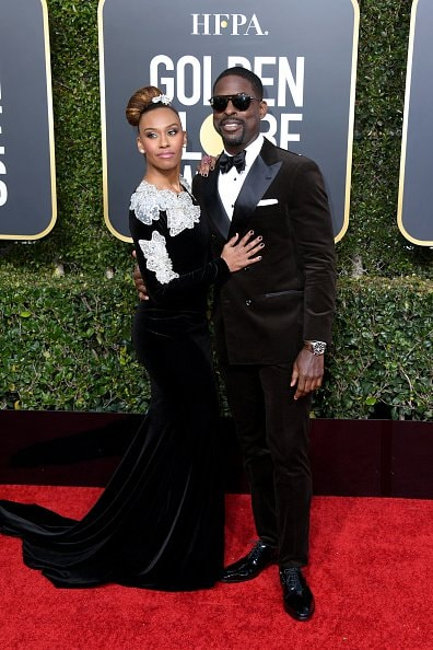 BEVERLY HILLS, CA - JANUARY 06:  Ryan Michelle Bathe and Sterling K. Brown attend the 76th Annual Golden Globe Awards at The Beverly Hilton Hotel on January 6, 2019 in Beverly Hills, California.  (Photo by Jon Kopaloff/Getty Images)