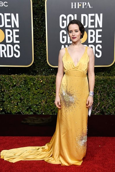 BEVERLY HILLS, CA - JANUARY 06:  Claire Foy attends the 76th Annual Golden Globe Awards at The Beverly Hilton Hotel on January 6, 2019 in Beverly Hills, California.  (Photo by Frazer Harrison/Getty Images)