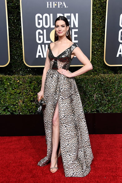 BEVERLY HILLS, CA - JANUARY 06:  Anne Hathaway attends the 76th Annual Golden Globe Awards at The Beverly Hilton Hotel on January 6, 2019 in Beverly Hills, California.  (Photo by Frazer Harrison/Getty Images)