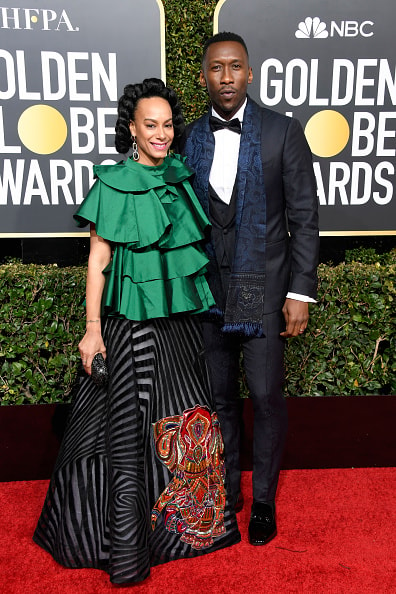 BEVERLY HILLS, CA - JANUARY 06:  Amatus Sami-Karim (L) and Mahershala Ali attend the 76th Annual Golden Globe Awards at The Beverly Hilton Hotel on January 6, 2019 in Beverly Hills, California.  (Photo by Frazer Harrison/Getty Images)
