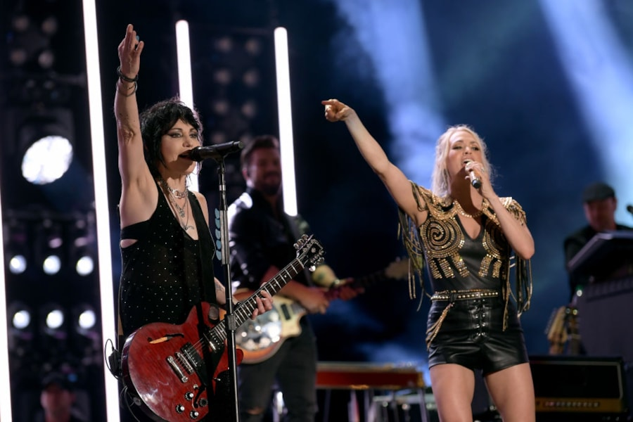 Joan Jett joins Carrie Underwood on stage at CMA Fest for one of this year's best moments.