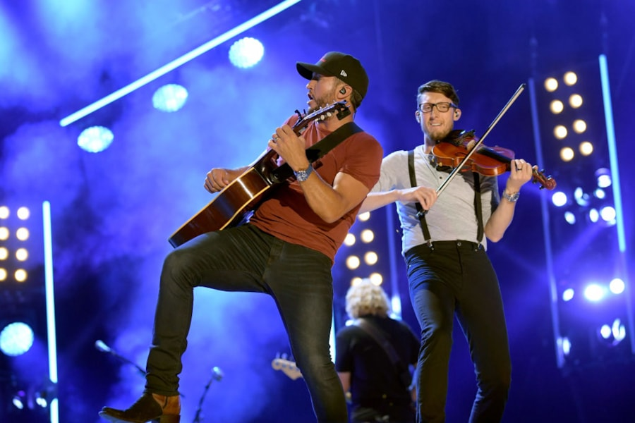 Luke Bryan performs on stage for day 4 of the 2019 CMA Music Festival.